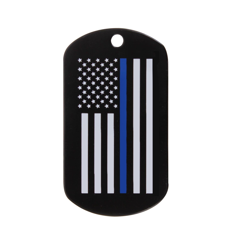 Známka identifikaèní DOG TAG vlajka US s modrou linkou - zvìtšit obrázek