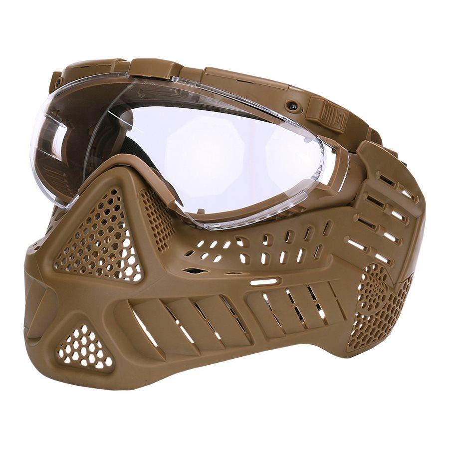 Maska ochranná PAINTBALL LED KHAKI - zvìtšit obrázek