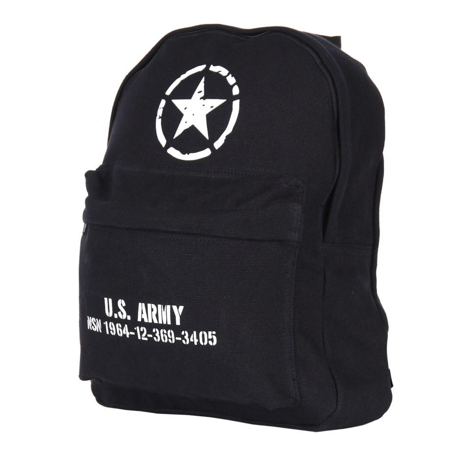 Batoh dìtský U.S. ARMY plátìný ÈERNÝ - zvìtšit obrázek