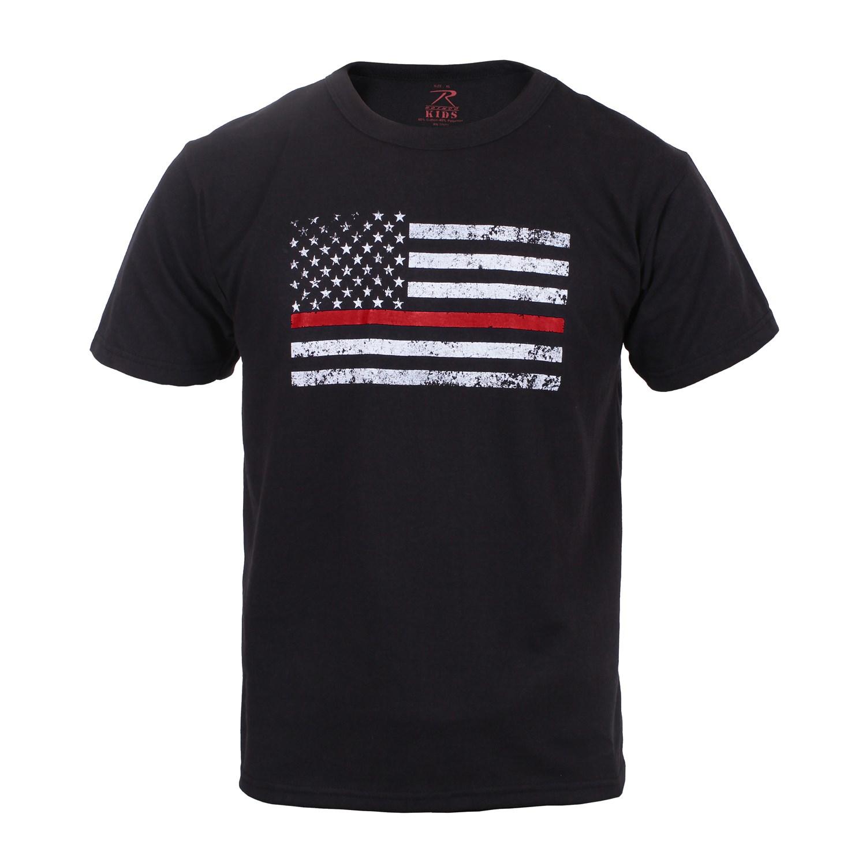 Triko dìtské THIN RED LINE US vlajka ÈERNÉ - zvìtšit obrázek