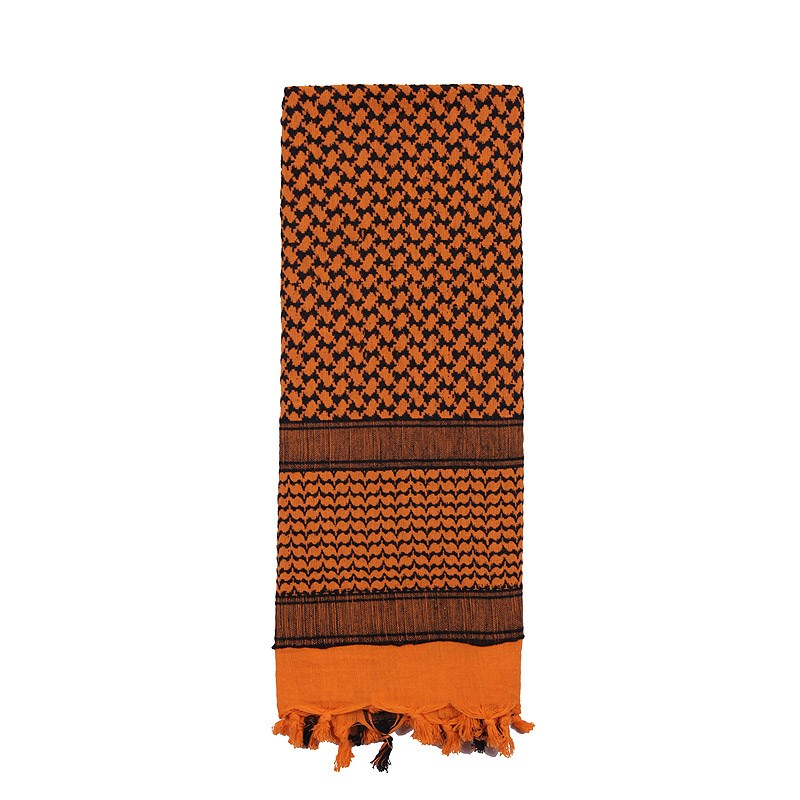 Šátek SHEMAGH 105 x 105 cm ORANŽOVO-ÈERNÝ - zvìtšit obrázek