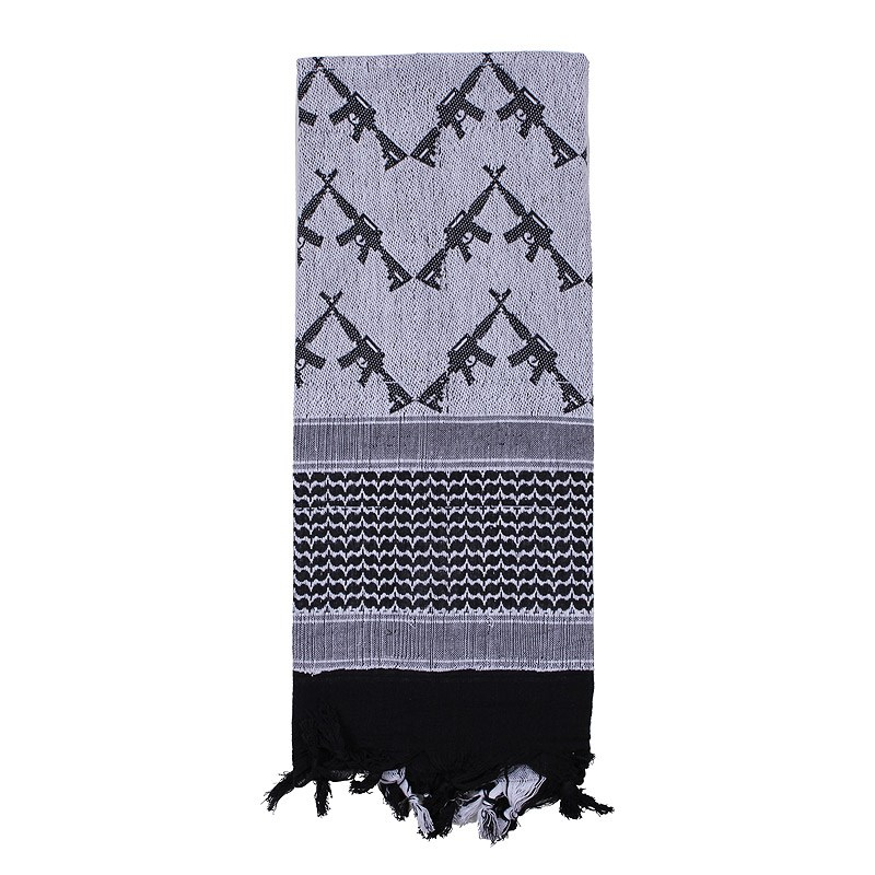 Šátek SHEMAGH CROSSED RIFLES 107 x 107 cm BÍLO-ÈERNÝ - zvìtšit obrázek