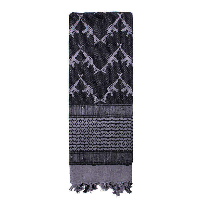 Šátek SHEMAGH CROSSED RIFLES 107 x 107 cm ŠEDÝ - zvìtšit obrázek