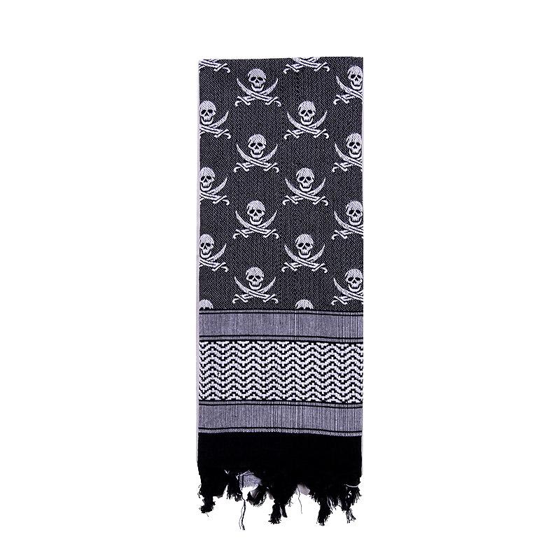 Šátek SHEMAGH LEBKY 107 x 107 cm BÍLO-ÈERNÝ - zvìtšit obrázek