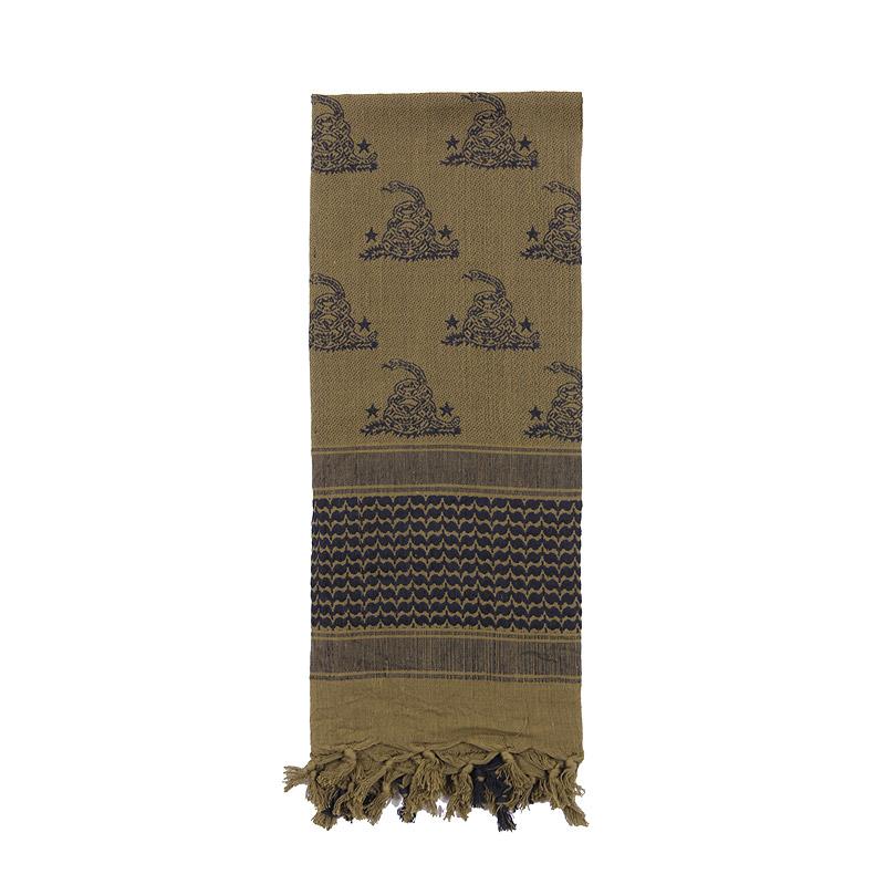 Šátek SHEMAGH 107 x 107 cm GADSDEN SNAKE ZELENÝ - zvìtšit obrázek