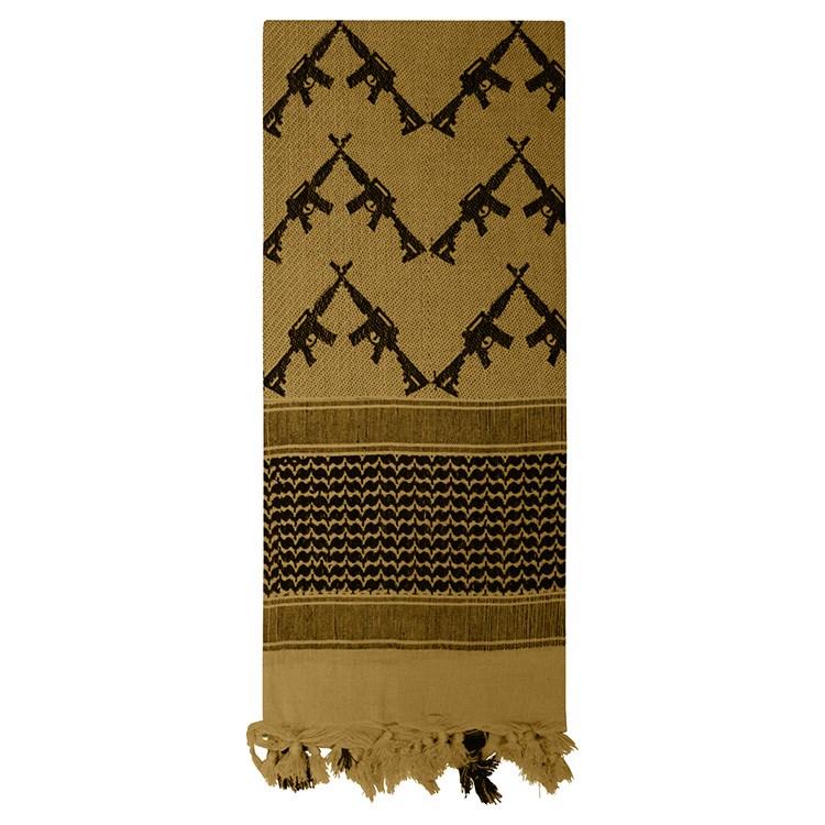 Šátek SHEMAGH CROSSED RIFLES 107 x 107 cm COYOTE - zvìtšit obrázek