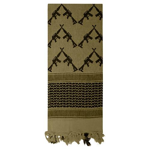 Šátek SHEMAGH CROSSED RIFLES 107 x 107 cm ZELENÝ - zvìtšit obrázek