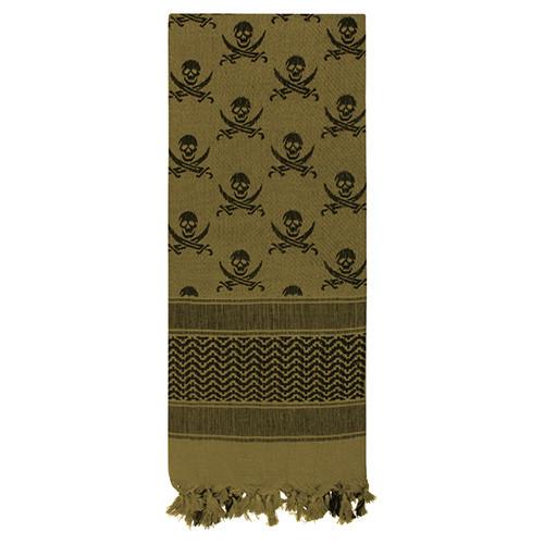 Šátek SHEMAGH LEBKY 107 x 107 cm ZELENO-ÈERNÝ - zvìtšit obrázek
