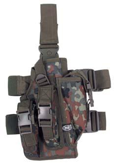 MFH Pouzdro na zbraň stehenní pravé FLECKTARN