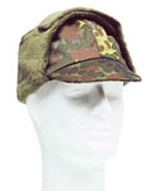 armáda Německá Čepice BW zimní s kšiltem FLECKTARN