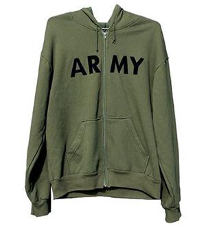 ROTHCO Mikina s kapucí US ARMY se zipem OLIV