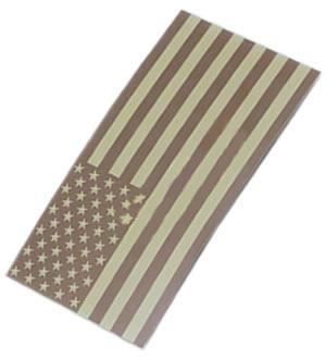 KING ARMS Nášivka velcro US vlajka DESERT IFF King Arms