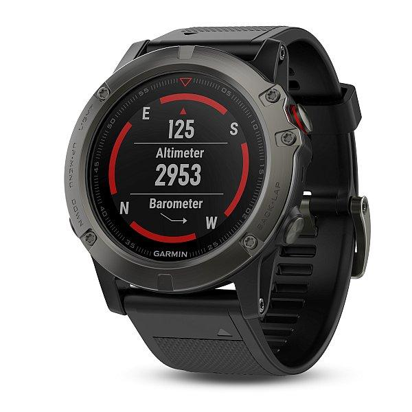 Chytré hodinky Garmin Fenix5X Sapphire Gray Optic černý řemínek ... e5704c0fc9