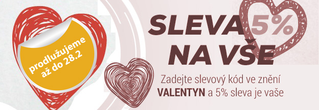 Sv. Valentýn a sleva 5%